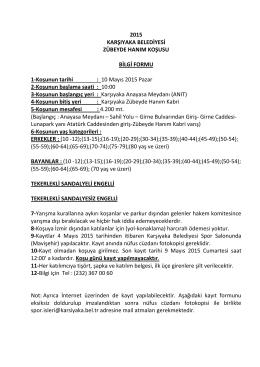 Bilgi Formu - Karşıyaka Belediyesi