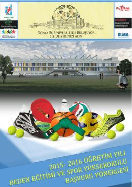 2015-2016 eğitim-öğretim yılı özel yetenek sınavı