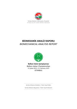 BİOMEKANİK ANALİZ RAPORU BIOMECHANICAL ANALYSIS