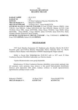 Karar No - 248 : 29 Ekim Cumhuriyet Bayramı Etkinlikleri Hk.