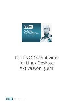 ESET NOD Antivirus for Linux Desktop Aktivasyon İşlemi