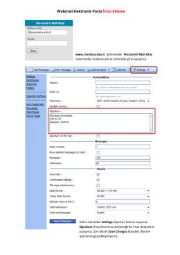 Webmail Elektronik Posta İmza Ekleme