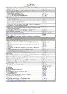 Çalışma Takvimi - ODUNPAZARI - Yunus Emre Mesleki ve Teknik