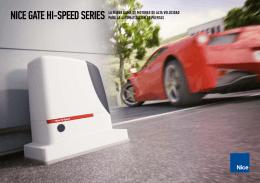 nice gate hi-speed series la nueva gama de motores de alta