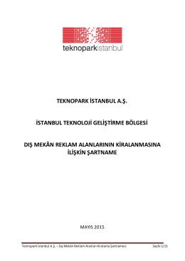 İDARİ ŞARTNAME - Teknopark İstanbul