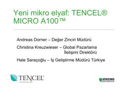 Yeni mikro elyaf: TENCEL® MICRO A100™