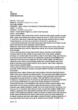 Yargıtay Hukuk Genel Kurulu`nun 2013-7-2454 E. , 2014