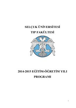 2014-2015 Eğitim Yılı Ders Programı