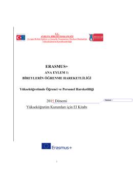 Erasmus 2015-2016 Uygulama El Kitabı