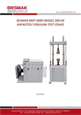 BMT-500D Model 500 kN Kapasiteli Dinamik