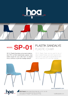 MODEL SP-01 PLASTİK SANDALYE PLASTİC CHAIR