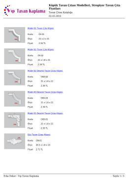 Köpük Tavan Çıtası Modelleri, Stropiyer Tavan Çıta Fiyatları