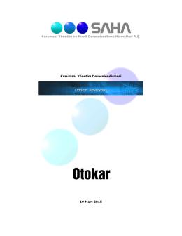 Kurumsal Yönetim Derecelendirme Raporu