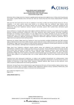 CEMAS Genel Kurul Davet Mektubu 2014