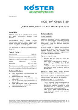 KÖSTER   Grout S 50