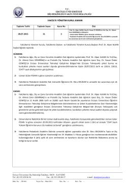 28.07.2015 - Erciyes Üniversitesi Diş Hekimliği Fakültesi