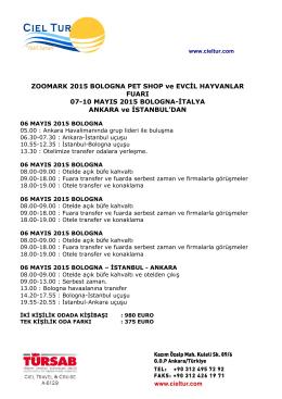 ZOOMARK 2015 BOLOGNA PET SHOP ve EVCİL HAYVANLAR