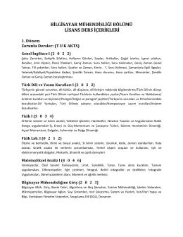 Ders İçerikleri - İstanbul Ticaret Üniversitesi