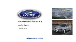 Ford Otosan Değerleme Raporu