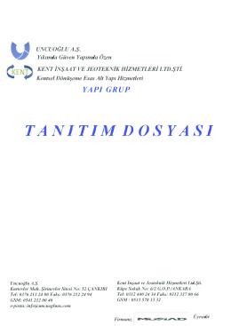 T A N I T I M  D O S Y A S I - Uncuoğlu İnşaat Taahhüt A.Ş.