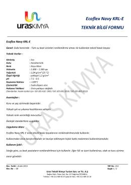 Ecoflex Navy KRL-E TEKNİK BİLGİ FORMU