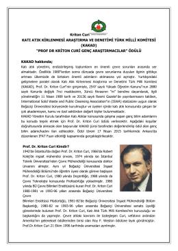 Kriton Curi KATI ATIK KİRLENMESİ ARAŞTIRMA VE DENETİMİ