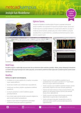 Jeolojik Katı Modelleme