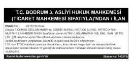 T.C. BODRUM 3. ASLİYİ HUKUK MAHKEMESİ (TİCARET
