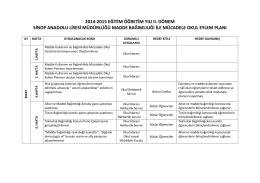 Madde Bağımlılığı ile Mücadele Okul Eylem Planı