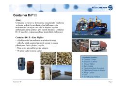 Container Dri II SUNUM
