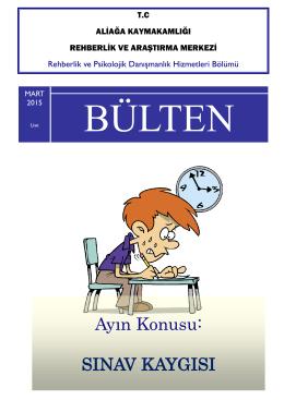 RPDH BÜLTENİ MART 2015 Lise - Aliağa Rehberlik ve Araştırma