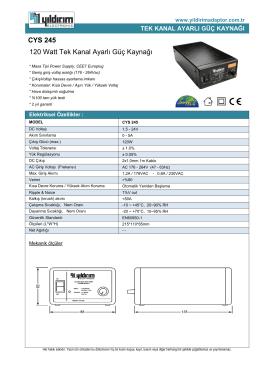 CYS 245 120 Watt Tek Kanal Ayarlı Güç Kaynağı