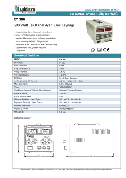 CY 306 200 Watt Tek Kanal Ayarlı Güç Kaynağı