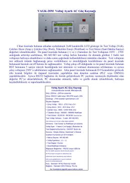 VAGK-20M Voltaj Ayarlı AC Güç Kaynağı