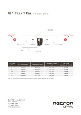 1 Faz / 1 Faz UPS Bağlantı Şeması