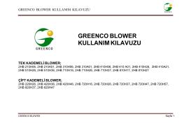 greenco blower kullanım kılavuzu