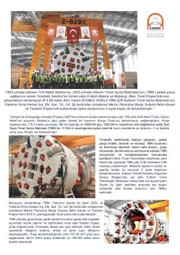 DSI Pamuklu Barajı TBM Revizyonu - E-Berk