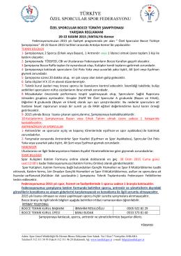İndirilebilir Dosya - Türkiye Özel Sporcular Spor Federasyonu