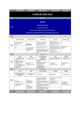 Program - İstanbul Üniversitesi