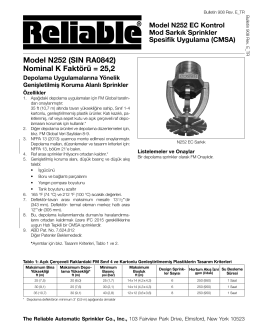 Model N252 (SIN RA0842) - Reliable Automatic Sprinkler Co.