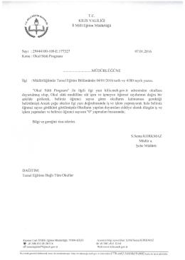 """*"""" %% KİLİS VALİLİĞİ - Kilis Milli Eğitim Müdürlüğü"""