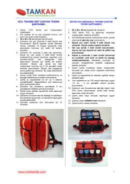 acil travma çantaları - Tamkan Tıbbi Materyaller