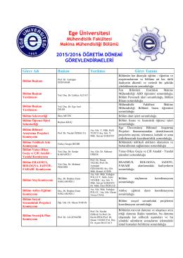 Komisyonlar - Makine Mühendisliği Bölümü