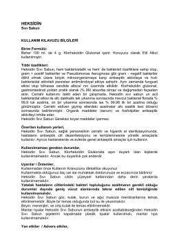 HEKSİDİN - Bikar İlaç Sanayi ve Tic.Ltd.Şti.