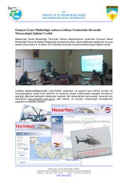 Emniyet Genel Müdürlüğü Ankara-Gölbaşı Tesislerinde Havacılık
