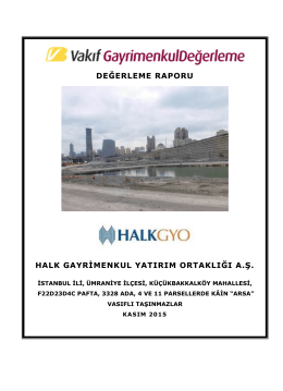 İstanbul Finans Merkezi Arsası (Kasım 2015)