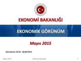 ekonomi bakanlığı-ekonomik görünüm raporu