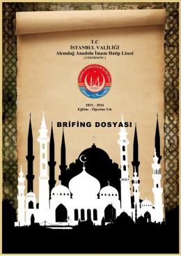 2015-2016 Brifing Dosyası - Alemdağ Anadolu İmam Hatip Lisesi