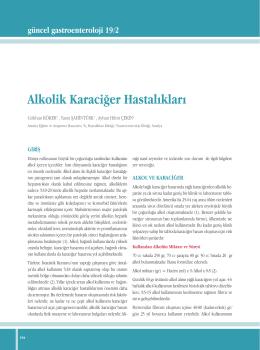 Alkolik Karaciğer Hastalıkları