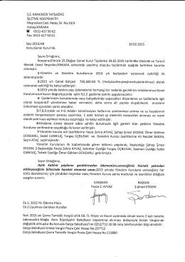 yayın2015-9 olağan genel kurul toplantı kararları